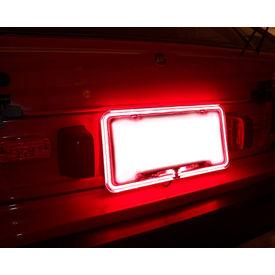Speedwav Car Styling License Plate Frame Neon Light Red