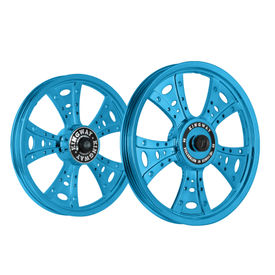 Kingway GSM Fat Boy Bike Alloy Wheel Set of 2 Glossy Blue
