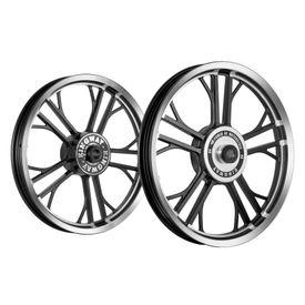 Kingway HRE Y Model Bike Alloy Wheel Set of 2 Black CNC