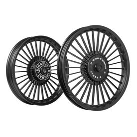 Kingway KSA 30 Spokes Bike Alloy Wheel Set of 2 Black