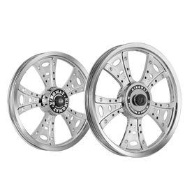 Kingway GSE Fat Boy Bike Alloy Wheel Set of 2 Glossy Silver CNC