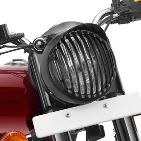 Speedwav Bike Headlight Grill Cover Cap Design Vertical Matt Black for Royal Enfield