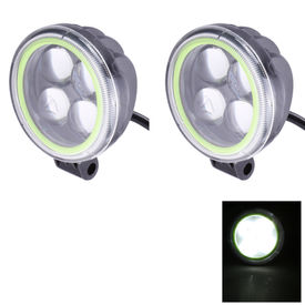Speedwav Bike 3.3 Inch 4 LED Fog Aux Light-White and Neon