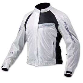 Komine JK-065 Riding Gear Body Armor CE Certified Jacket Silver Black