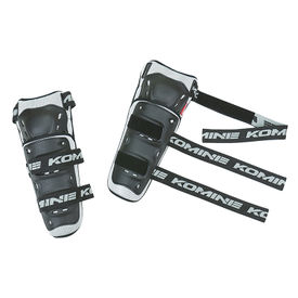 Komine SK-690 Bike Riding Knee Guard-Black and Grey