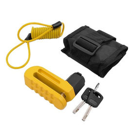 Komine LK-114 Bike Disc Lock-Yellow