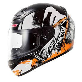 LS2 Helmet FF352 Rookie One Glossy Black Orange
