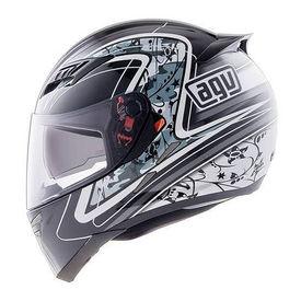 AGV Full Face Helmet Stealth SV Camouflage Glossy Black and White Size-M