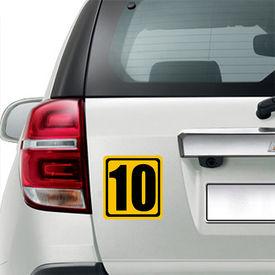 Speedwav Car Boot/Dicky 3D Sticker-Number Ten Racer