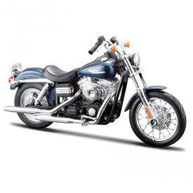 Maisto 1:12 Scale Die Cast Motorcycles Harley Davidson FXDBI Dyna Street Bob 2006-Blue