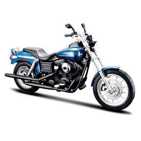 Maisto 1:12 Scale Die Cast Motorcycles Harley Davidson Dyna Super Glide Sport-Blue and Black