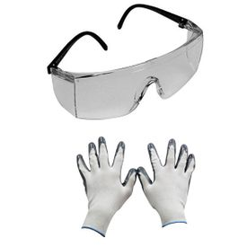 Combo of 3M Full Eye Cover Bike Riding Goggles+Summer Riding Gloves
