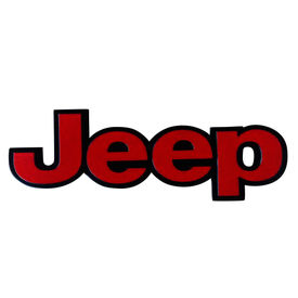 Speedwav Stylish Sticker 3D Decal Badge Red & Black-JEEP