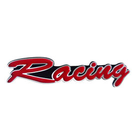 Speedwav Stylish Sticker 3D Decal Badge Red & Silver-RACING