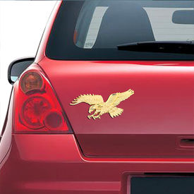 Speedwav Stylish Sticker 3D Decal Badge Eagle-Gold