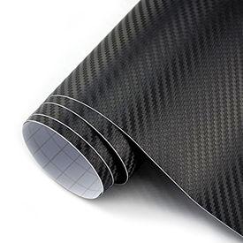 Speedwav 100x30cm Car Interior Carbon Fiber Styling Wrap Sheet-Black