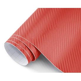 Speedwav 100x30cm Car Interior Carbon Fiber Styling Wrap Sheet-Red