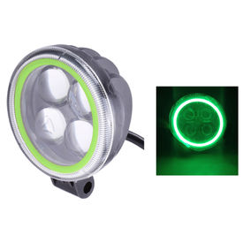 Speedwav 4LED Bike Round Aux Fog Light-Green Angel
