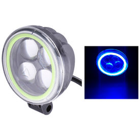 Speedwav 4LED Bike Round Aux Fog Light-Ice Blue Angel