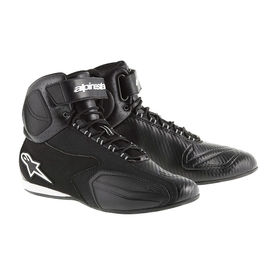 Alpinestars Faster Vented Bike Riding Boots/Shoes-Black
