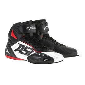 Alpinestars Faster-2 Vented Bike Riding Boots/Shoes-Black, White & Red