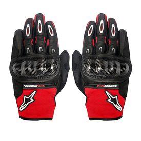 Alpinestars Megawatt Hard Knuckle Bike Riding Gloves-Black & Red White