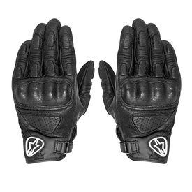 Alpinestars Mustang Leather Bike Riding Gloves-Black