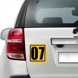 Speedwav Car Sticker-Number Seven Racer