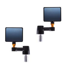 Speedwav Bike Square Handlebar End Rear View Mirror Set of 2-Black