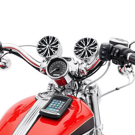 M808 Bike Aux Port Speakers Set For Harley Davidson-Chrome