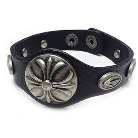 Jazzmyride Leatherette Men's Wrist Band Bracelet-Arrows