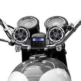 AV-M183 Bike Speakers Set with Music Player Controller For Harley Davidson Set of 2-Chrome