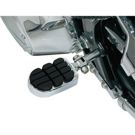 XF6159 Chrome Black Footrests/Footpegs Set of 2 for Harley Davidson