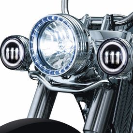 XF6243B 3LED Aux Fog Lamp Set of 2 For Harley Davidson-Black