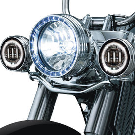 XF6243E 3LED Aux Fog Lamp Set of 2 For Harley Davidson-Chrome