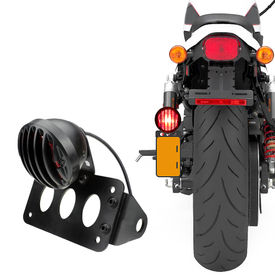 XF627 Side Licence Number Plate with Stylish Grilled LED Light For Harley Davidson
