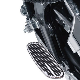 XF392E Striped Footrests/Footpegs Set of 2 For Harley Davidson-Chrome