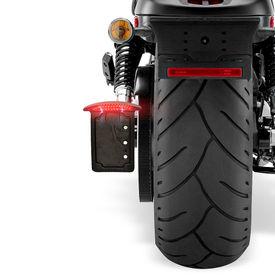 MT301B Side LED Licence Number Plate For Harley Davidson-Black