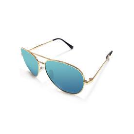 Jazzmyride 3339L Lime Reflective Aviator Polarized Sunglasses-Gold
