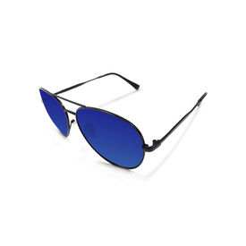 Jazzmyride 3339B Blue Reflective Aviator Polarized Sunglasses-Black