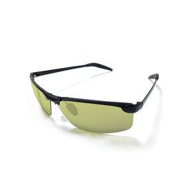 Jazzmyride 0341G Green Semi-Rimless Polarized Sunglasses-Black