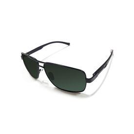 Jazzmyride 3354B Black Rectangle Rimed Polarized Sunglasses-Black