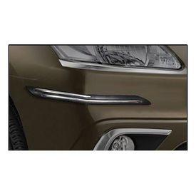 Speedwav Car Black Twin Chrome Bumper Scratch Protector