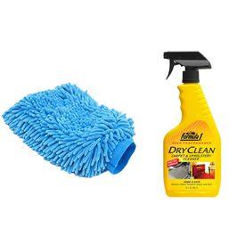 Formula 1 Car Dry Cleaning Kit Carpet/Upholstery+Speedwav Microfiber Glove