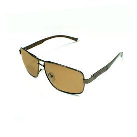 Jazzmyride 3354BR Rectangle Rimed Polarized Sunglasses-Brown