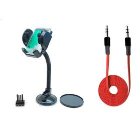 Car Combo Fly Mobile/GPS Holder + Speedwav Anti Tangle Aux Cable