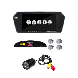 Accedre 7 Inch Screen+ Reversa Parking Sensor Silver+ 8 LED Night Vision Reverse Parking Camera