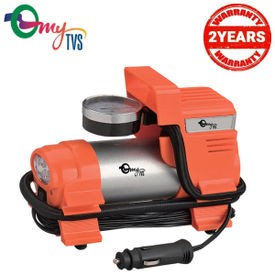myTVS Car Metallic Heavy Duty Tyre Inflator (5 Times Faster Than Any Normal Inflator) 2 Years Warranty