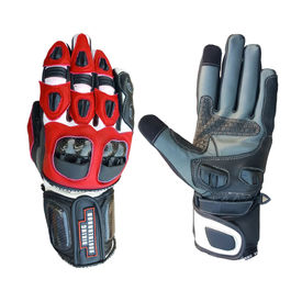 Biking Brotherhood Full Gauntlet Gloves-Black & Red