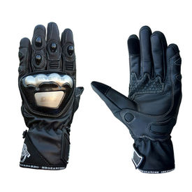 Biking Brotherhood Semi Gauntlet Gloves-Black